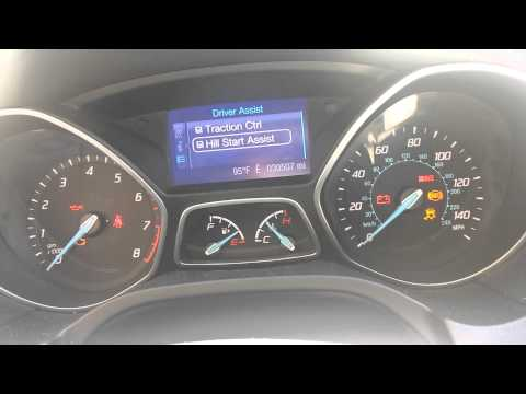 Enabling hill start assist on 2013 Focus SE - YouTube