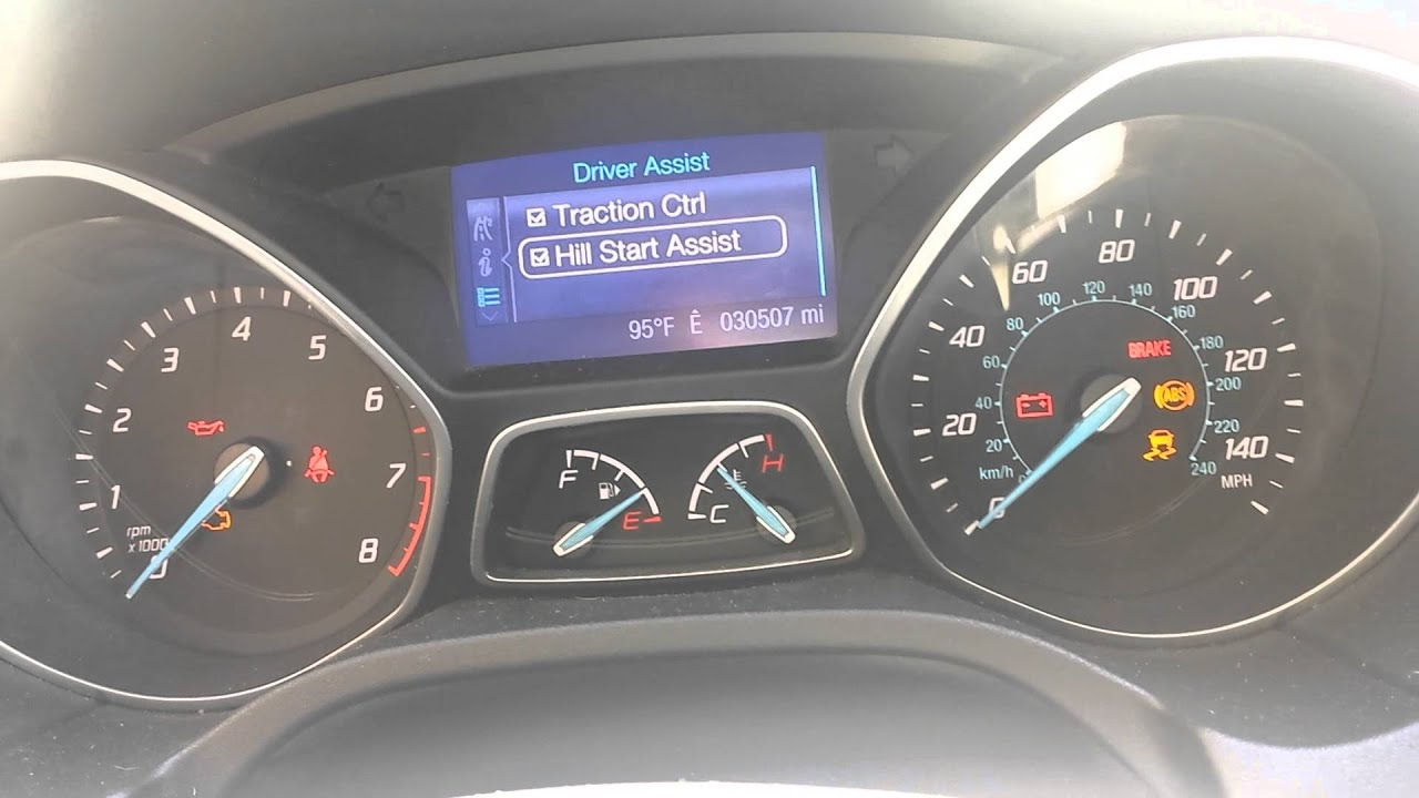 Ford Escape Se >> Enabling hill start assist on 2013 Focus SE - YouTube