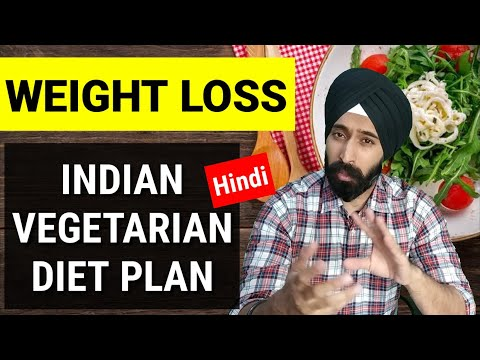 Best Indian Vegetarian Weight Fat Loss Diet Plan Hindi | Full day of Eating| Keto | Interminnent