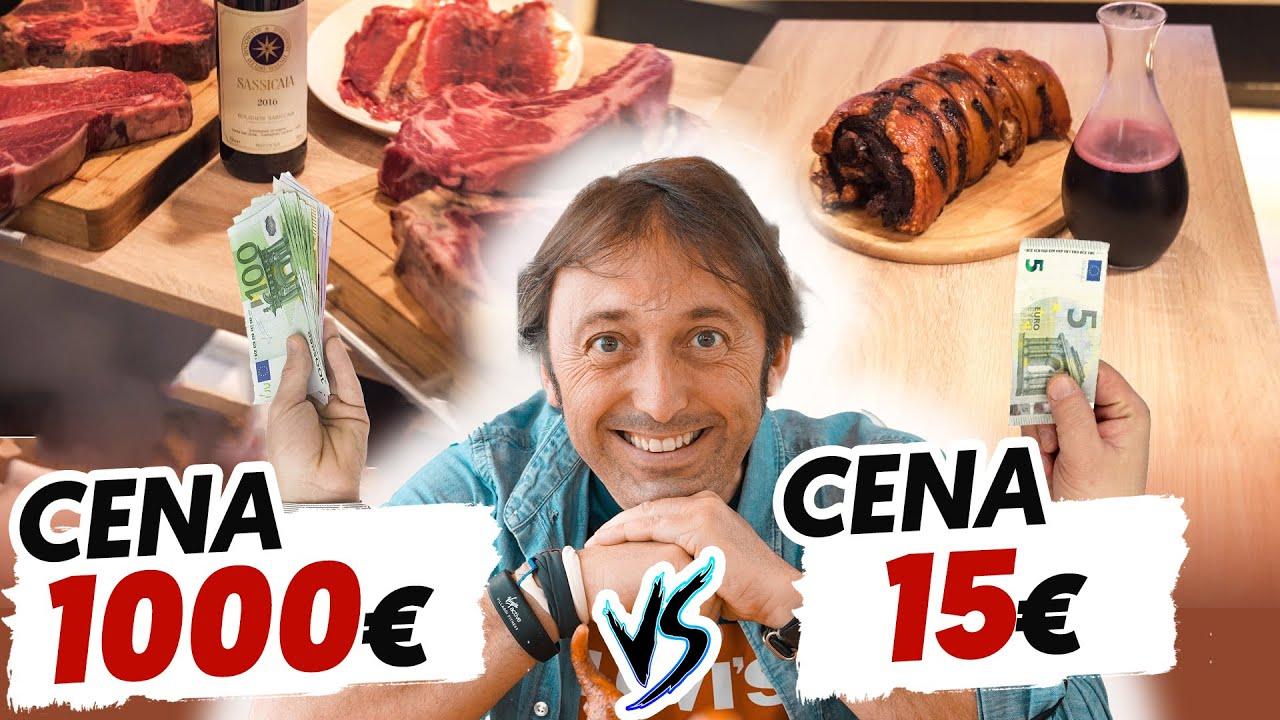 CENA DA 1000 EURO 🤑  vs CENA DA 15 EURO 🤔 : chi mangia meglio? con @versamiancora