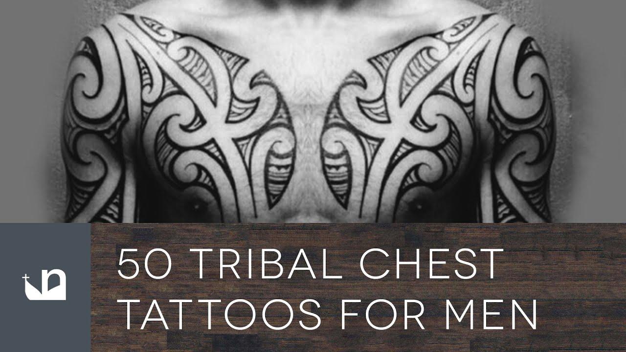 Chest Tattoo Images For Men: 50 Tribal Chest Tattoos For Men