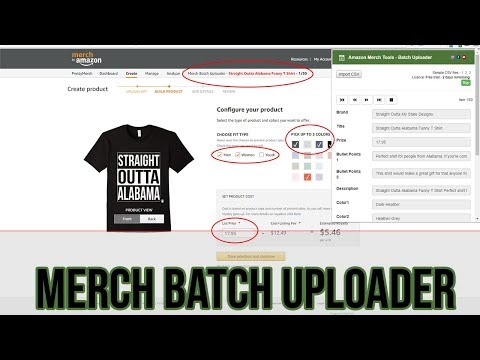 Amazon Merch Batch Uploader Chrome Extension Tool Overview