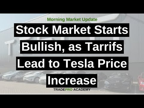 Stock market starts bullish, as tarrifs lead to Tesla price increase
