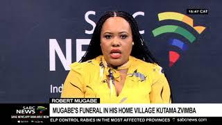 Robert Mugabe's burial: His sister bids farewell