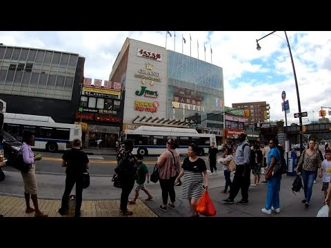 ⁴ᴷ⁶⁰ Walking NYC (Narrated) : Downtown Flushing [法拉盛] , Queens (Chinatown) - July 2, 2019