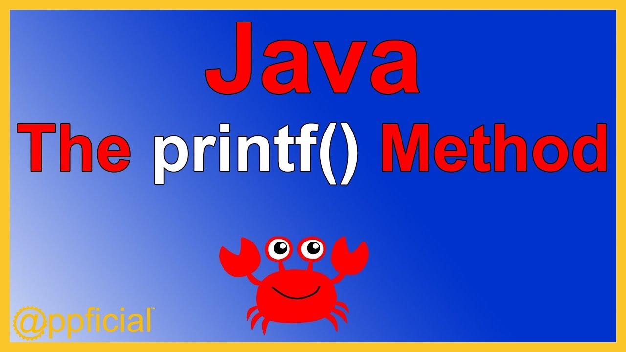 Java printf method displaying data using systemoutintf java printf method displaying data using systemoutintf java programming tutorial appficial baditri Gallery