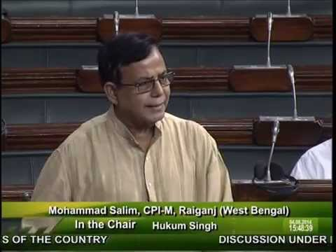 Md Salim on AIIMS Raiganj and Encephalitis outbreak - Lok Sabha (04/08/2014)