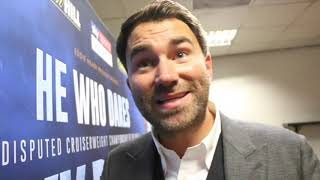 EMOTIONAL EDDIE HEARN REACTS TO TONY BELLEW'S KNOCKOUT DEFEAT TO OLEKSANDR USYK / USYK-BELLEW
