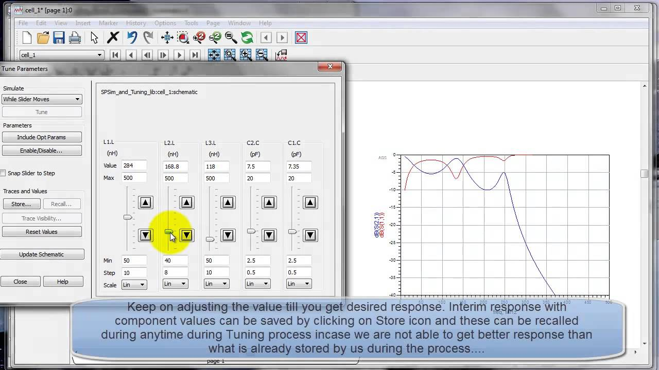 S-Parameter Simulation and Tuning