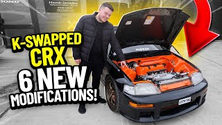 MY K-SWAPPED CRX GETS UPGRADES!