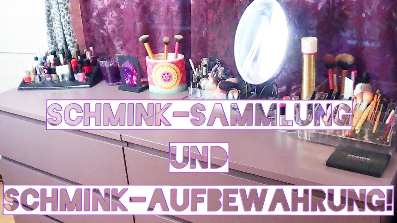 meine schminksammlung und make up aufbewahrung ikea xenos dm etc aufbewahrungen youtube. Black Bedroom Furniture Sets. Home Design Ideas