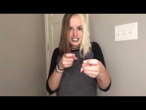 bad guy Sign Language
