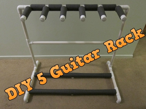 DIY 5 Guitar Stand / Rack Made For Under $20
