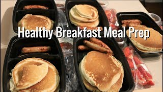 Healthy Pancake and Sausage Breakfast Meal Prep