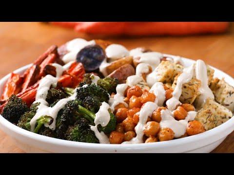 Quick-Roasted Veggie Bowl Recipe • Tasty