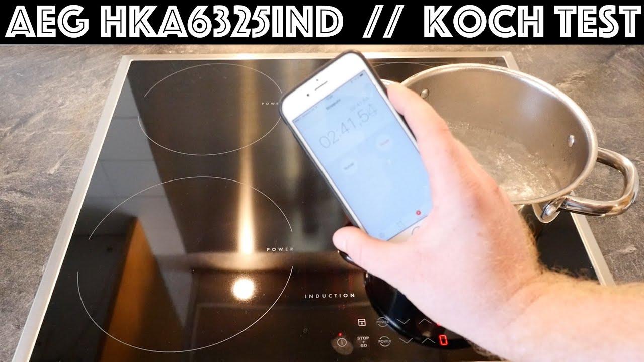 Autarkes Induktionskochfeld AEG HKA6325IND Test 1 Liter Wasser