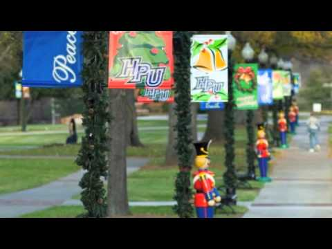 High Point University Christmas Decorations - YouTube