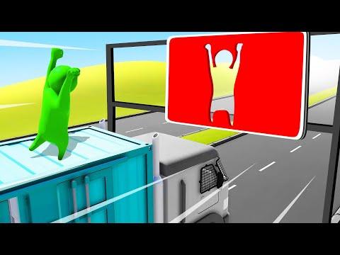 JUMP THROUGH The GAP At 250MPH! (Gang Beasts)
