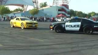 Police car join the Cars Drift show