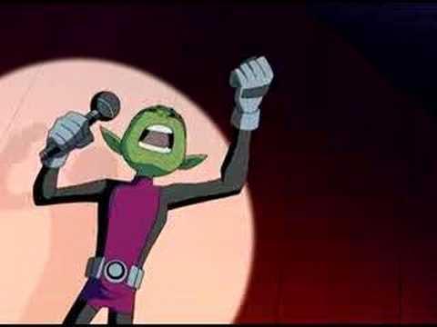 Teen Titans theme song karaoke-style