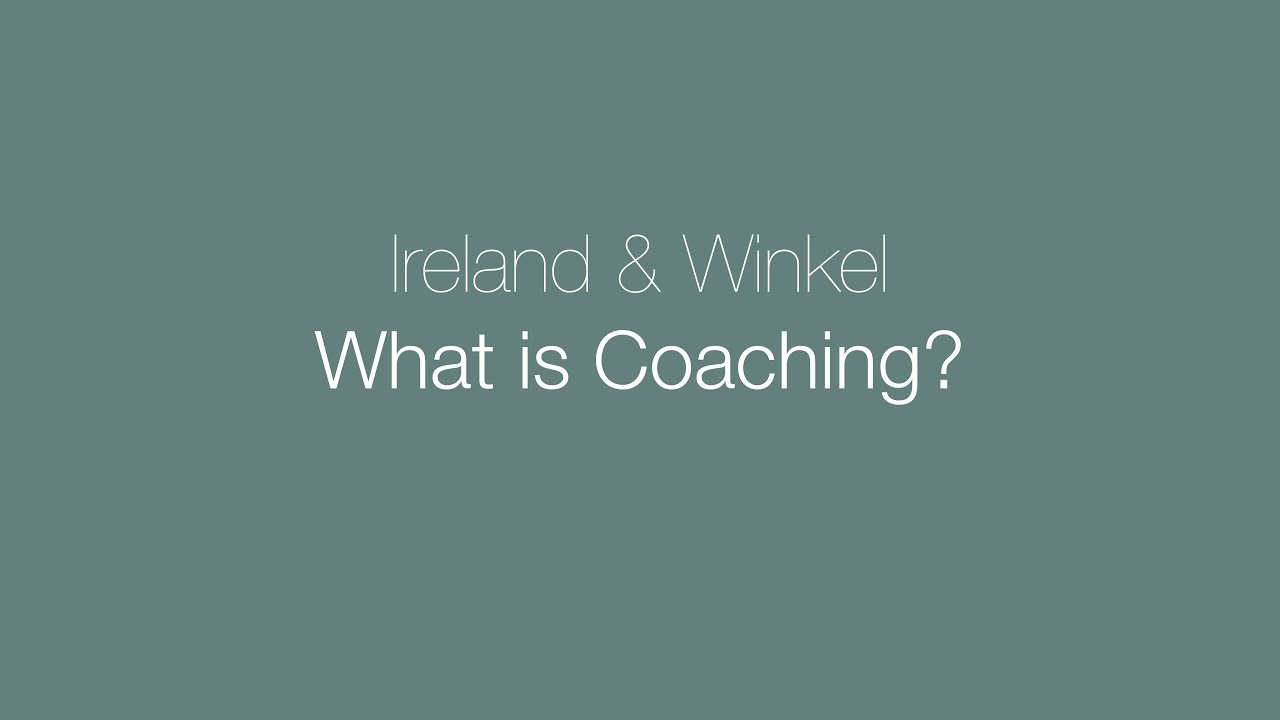 What is coaching? This is what we think.