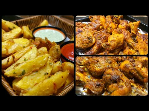 grilled-chicken-with-wedges---quick-grilled-chicken---how-to-make