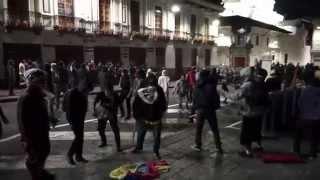 Violenta marcha indígena en el centro de Quito - 13 de agosto.