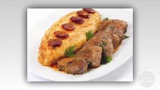 Açorda rica: pão, costelinha e linguiça de porco