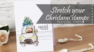 Stretch your Christmas stamps   Newton's nook designs