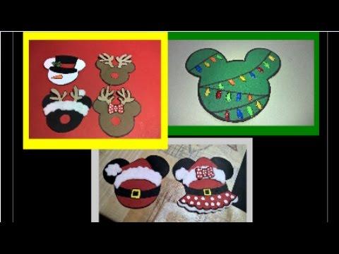 Adorno Navideno De Mickey Mouse By Manualidades Yonaimy