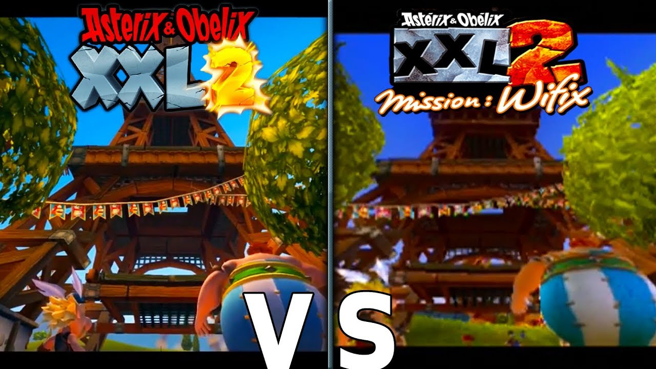 Asterix And Obelix Xxl 2 Remastered Graphics Comparison Switch Xbox