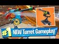 Mounted Turret Gameplay (in Food Fight) - Fortnite Battle Royale