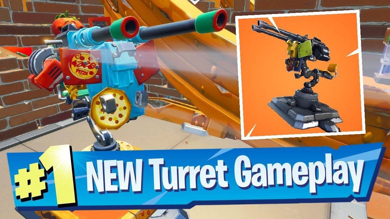 Mounted Turret Gameplay In Food Fight Fortnite Battle Royale