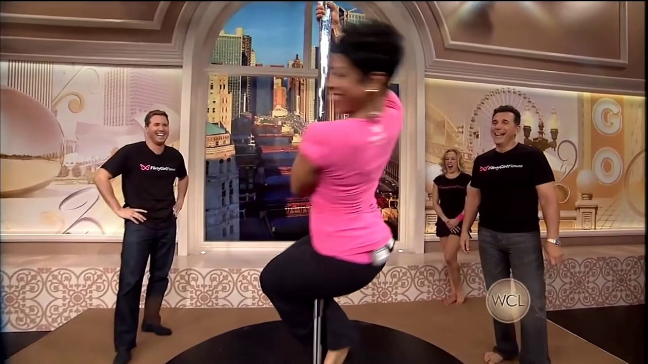 Val Warner Working The Pole! Windy City Live - YouTube