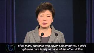 South Korea President weeps during ferry disaster apology