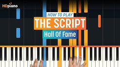 """How To Play """"Hall Of Fame"""" by The Script 