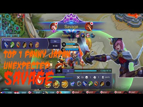 1SECOND MANIAC - SAVAGE?! TOP 1 FANNY JAPAN AGGRESSIVE PLAY! NEW BUILD - Mobile Legends Bang Bang