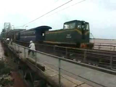 Train over Bridge Hanoi Vietnam