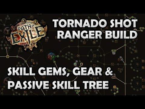 Path of Exile: Crit Puncture Tornado Shot Ranger Gems, Gear & Passives Guide