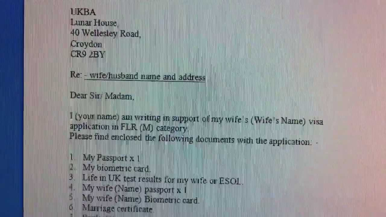 report of marriage cover letter sample