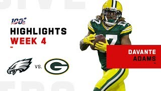 Davante Adams Surges w/ 180 Yds | NFL 2019 Highlights