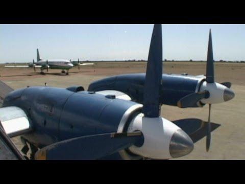Cockpit ILYUSHIN 18 into Mogadishu, SOMALIA