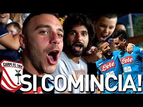 NAPOLI 4-1 CARPI | SI COMINCIA! LIVE REACTION HD TIFOSI NAPOLETANI #SSCNAPOLI