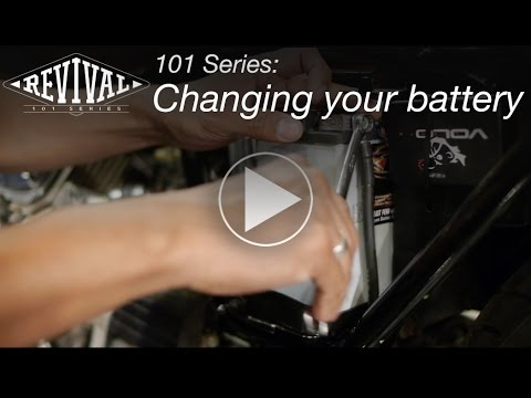 How To Change Your Motorcycle Battery // Revival 101