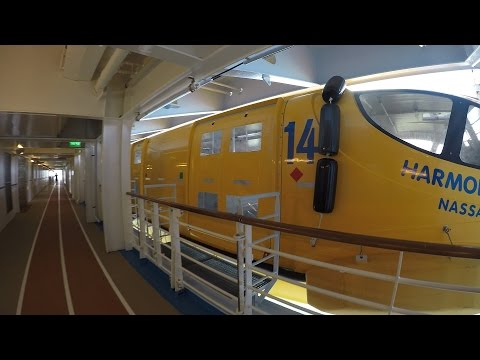 [4K] Tour of the Track and Lifeboats Aboard Harmony of the Seas Cruise Royal Caribbean December 2016