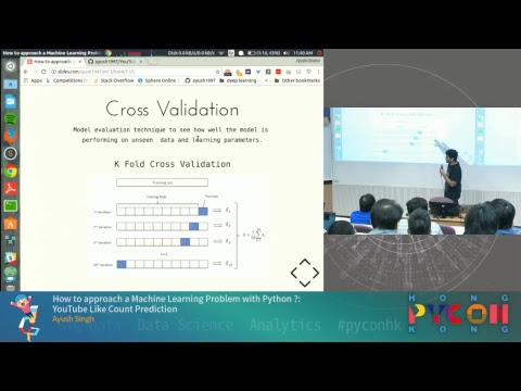 PyCon HK 2017 - How to approach a ML Problem with Python ?: YouTube Like Count Prediction