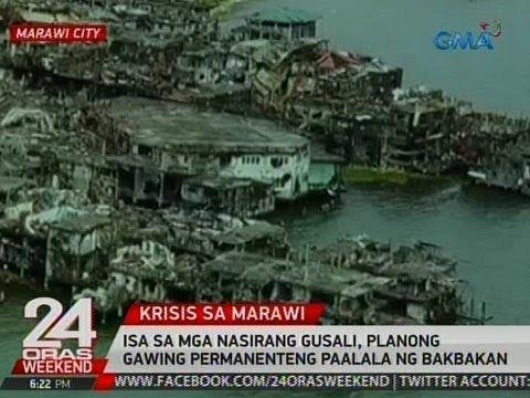 Isa sa mga nasirang gusali sa Marawi City, planong gawing permanenteng paalala sa bakbakan