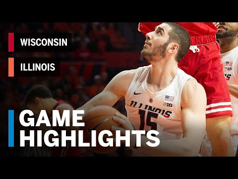 Highlights: Wisconsin at Illinois | Big Ten Basketball