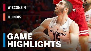 Highlights: Wisconsin at Illinois | Big Ten Basketball