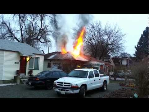 February 2nd 2013 Fire Call, N. Vista Road in Spokane Valley from Spokane News